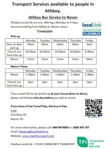 Athboy to Navan Timetable