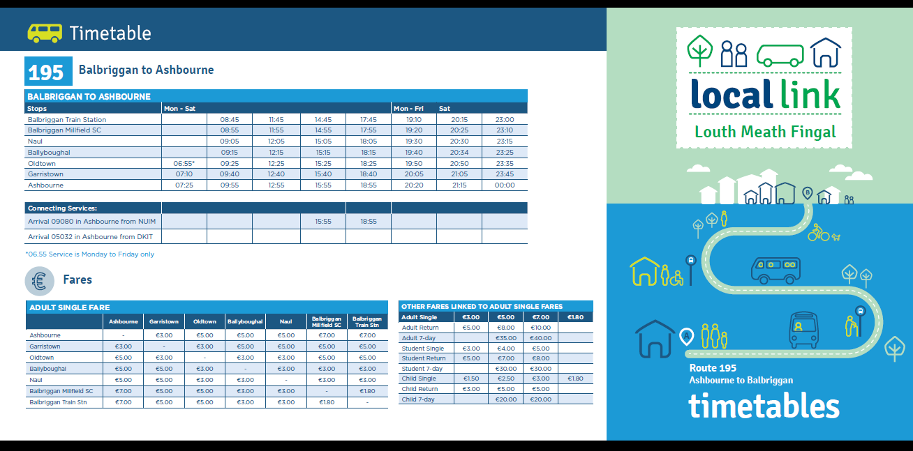 LL 195 Revised Timetable
